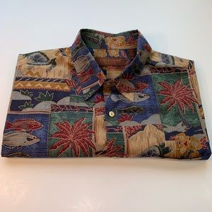 Vintage Tori Richard Honolulu Hawaiian Shirt LRG
